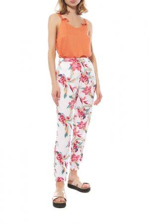 Пляжные брюки Roxy. Цвет: белый