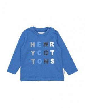 Футболка HENRY COTTON'S. Цвет: синий