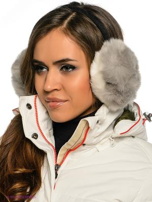 Теплые наушники Fur (серые) Kawaii Factory. Цвет: белый, черный, серый