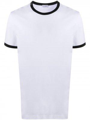 Пижамный топ с контрастной отделкой Dolce & Gabbana. Цвет: белый