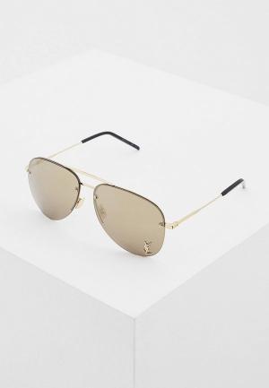 Очки солнцезащитные Saint Laurent CLASSIC 11 M004. Цвет: золотой