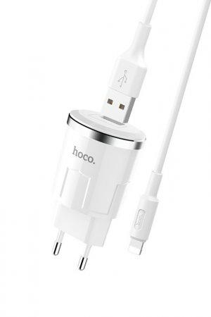 Сетевое зарядное устро-во C37A Hoco. Цвет: белый