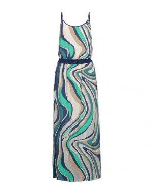 Длинное платье EMMA & GAIA. Цвет: темно-синий