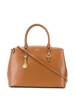 Большая сумка-тоут Lauren Ralph. Цвет: коричневый