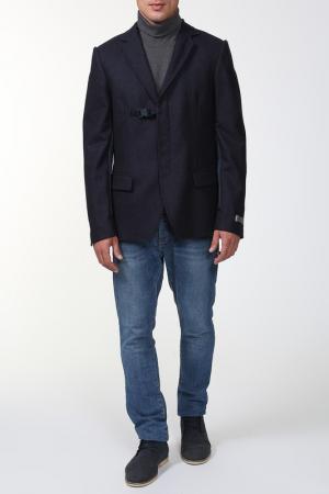 Пиджак с капюшоном Frankie Morello. Цвет: синий