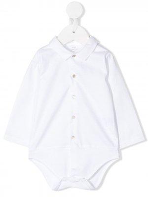 Рубашка-боди Hans Knot. Цвет: белый