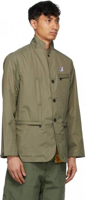 Khaki K-Way Edition Packable Blase 3.0 Blazer Engineered Garments. Цвет: khaki