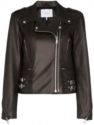 Байкерская куртка FRAME. Цвет: черный