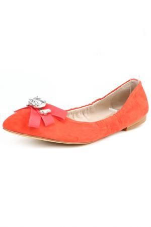 Балетки ELMONTE. Цвет: оранжевый