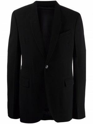 Пиджак узкого кроя Rick Owens. Цвет: черный