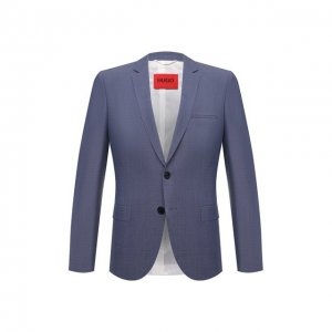 Шерстяной пиджак HUGO. Цвет: синий
