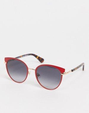 Солнцезащитные очки «кошачий глаз» Janalee-Красный Kate Spade