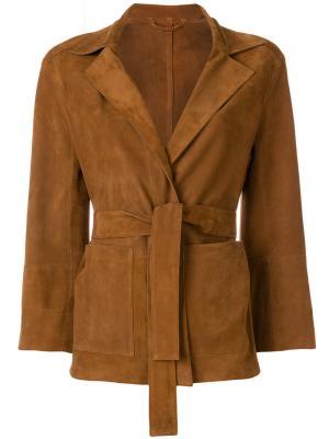 Куртка с V-образным вырезом и поясом Sylvie Schimmel