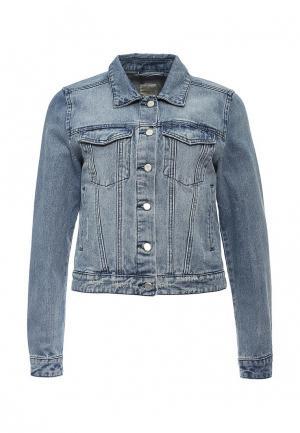 Куртка джинсовая Selected Femme. Цвет: синий