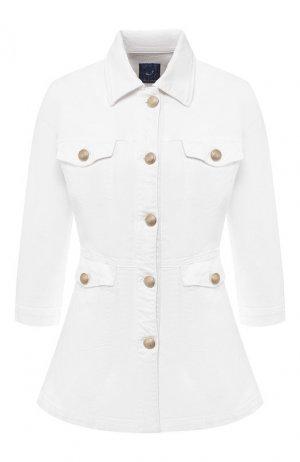 Джинсовая куртка Jacob Cohen. Цвет: белый