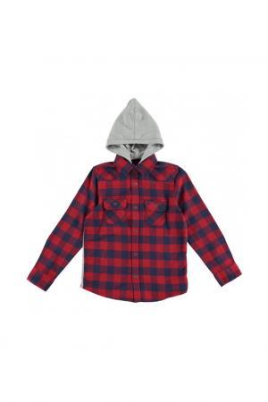 Рубашка IDO. Цвет: красный