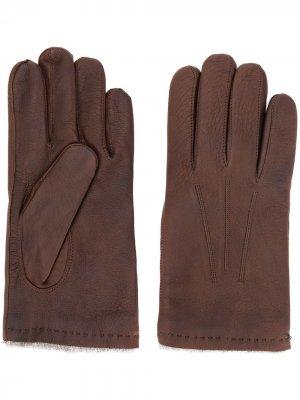 Стеганые перчатки Orciani. Цвет: коричневый