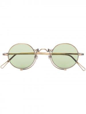 Солнцезащитные очки 10601H Heritage в круглой оправе Matsuda. Цвет: золотистый
