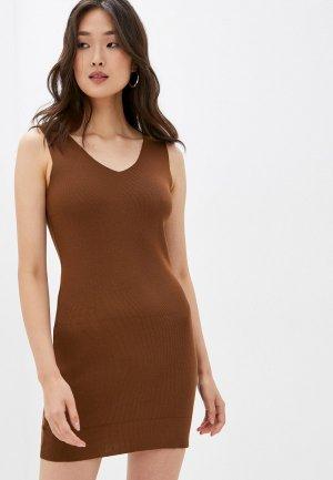 Платье GALOLBO. Цвет: коричневый
