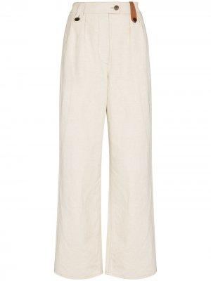 High-waisted wide-leg trousers LOEWE. Цвет: нейтральные цвета