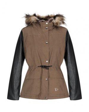Куртка MAISON ESPIN. Цвет: зеленый-милитари