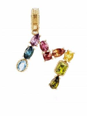 Подвеска Rainbow Alphabet M из желтого золота Dolce & Gabbana. Цвет: золотистый