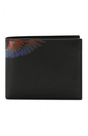 Кожаное портмоне с отделениями для кредитных карт Marcelo Burlon. Цвет: черный