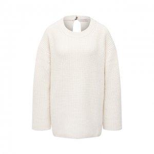 Шерстяной свитер By Malene Birger. Цвет: белый