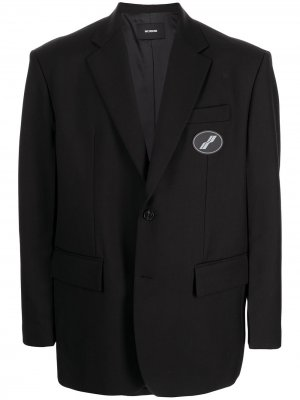 Пиджак свободного кроя с нашивкой-логотипом We11done. Цвет: черный
