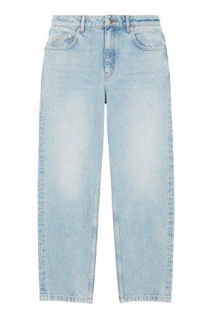 Прямые голубые джинсы Maje. Цвет: голубой