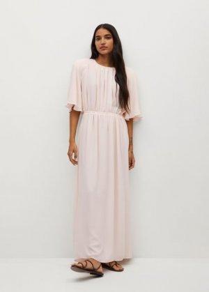 Длинное плиссированное платье - Sienna-a Mango. Цвет: пастельно-розовый