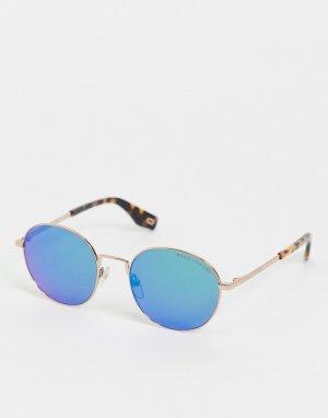 Солнцезащитные очки с синими стеклами 272/S-Золотистый Marc Jacobs
