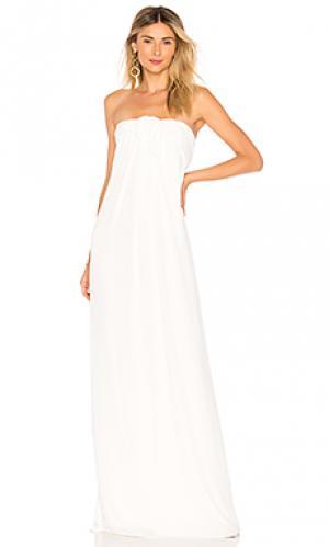 Вечернее платье front tie Halston Heritage. Цвет: белый