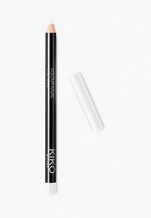 Карандаш для глаз Kiko Milano каял внутреннего контура век COLOUR KAJAL, оттенок 02, White, 1.05 г. Цвет: белый