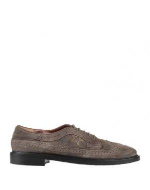 Обувь на шнурках GOLDEN GOOSE DELUXE BRAND. Цвет: свинцово-серый