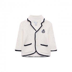 Хлопковый кардиган Polo Ralph Lauren. Цвет: белый