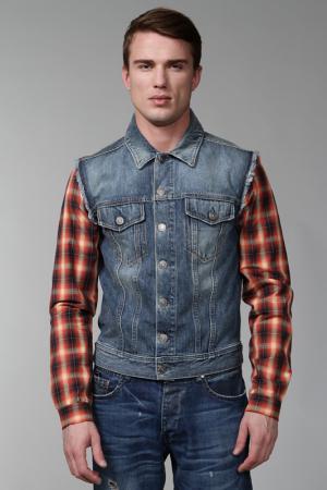 Куртка джинсовая McQ Alexander McQueen. Цвет: синий
