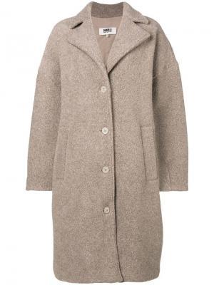 Oversized coat Mm6 Maison Margiela. Цвет: нейтральные цвета