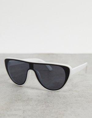 Белые солнцезащитные очки-маска -Белый AJ Morgan