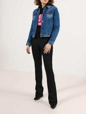 Джинсовая куртка Armani Exchange. Цвет: temno_siniy