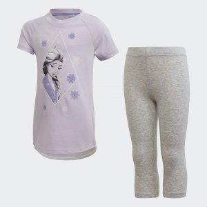Комплект: футболка и леггинсы Frozen 2 Performance adidas. Цвет: белый