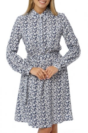 Платье Gloss. Цвет: темно-синий, белый