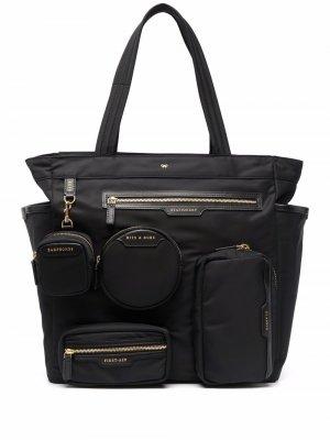 Объемная сумка-тоут Anya Hindmarch. Цвет: черный