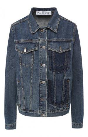 Джинсовая куртка J.W. Anderson. Цвет: синий