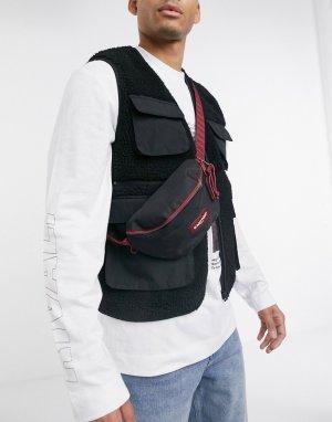 Черная сумка-кошелек на пояс с красной отделкой -Черный Eastpak