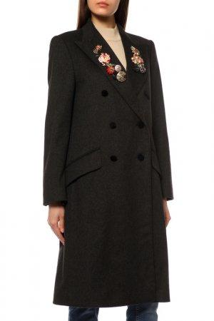 Пальто Dolce&Gabbana. Цвет: темно-серый, камни