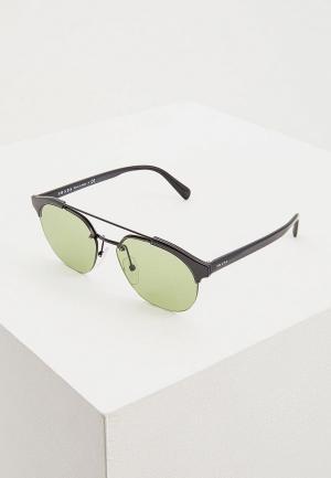 Очки солнцезащитные Prada PR 51VS 1AB411. Цвет: черный