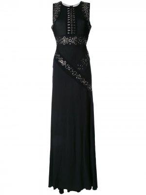 Вечернее платье с люверсами Antonio Berardi. Цвет: черный