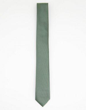 Однотонный атласный галстук -Белый Gianni Feraud