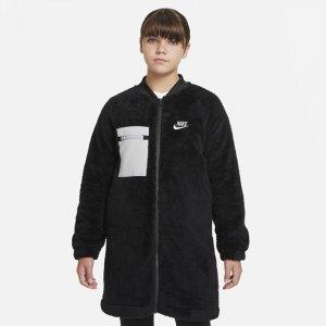 Зимняя куртка для девочек школьного возраста Sportswear (расширенный размерный ряд) - Черный Nike